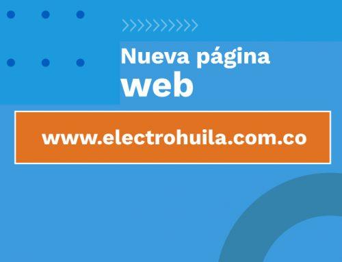 Nueva página web: www.electrohuila.com.co