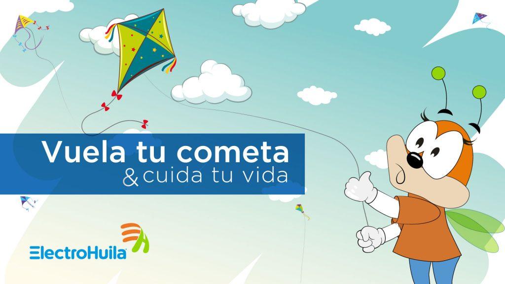 Electrohuila lidera la campaña de prevención ¡Vuela tu cometa y cuida tu vida!
